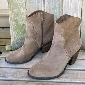 Bcbg suede cowgirl western boots 9